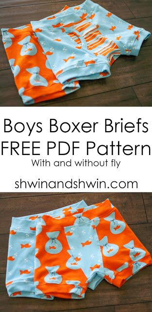 Free sewing pattern : boys boxers