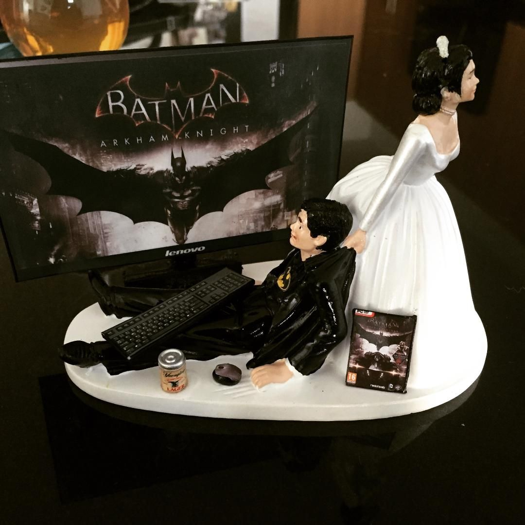 I\'m getting married next month. This is our cake topper | Funny ...