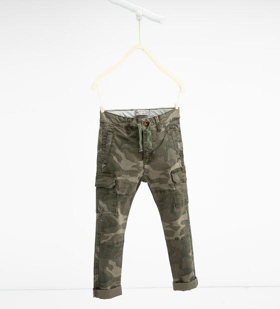 ZARA KIDS CAMOUFLAGE TROUSERS | ari | Pantalones, Zara