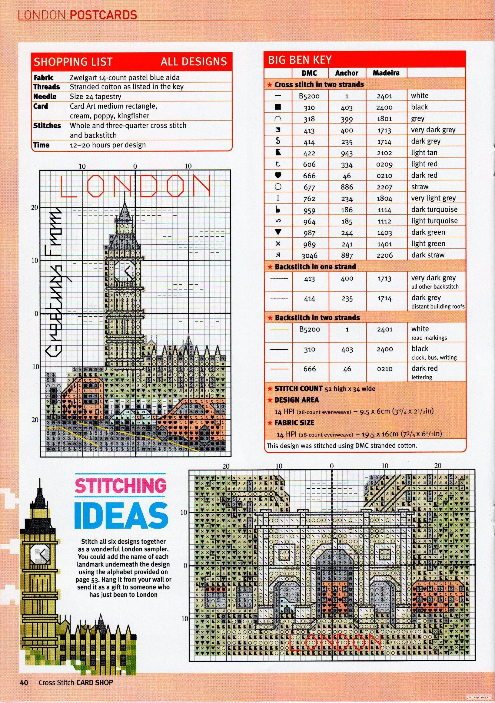 Cross Stitch World: postcard