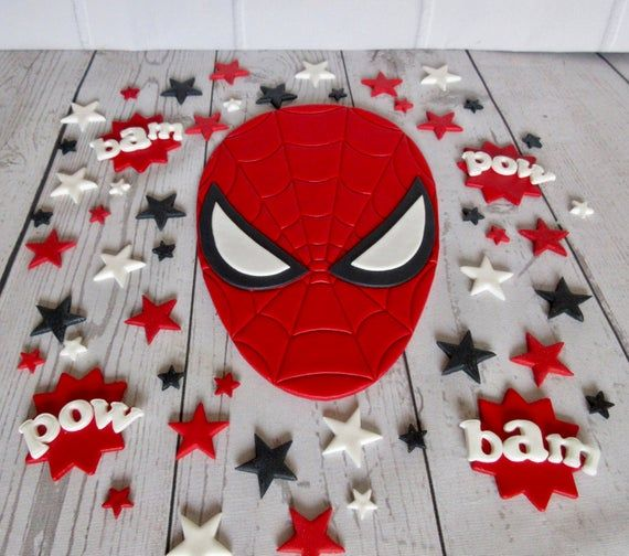 Edible Spider-Man. Personalised Spider-Man. Fondant | Etsy