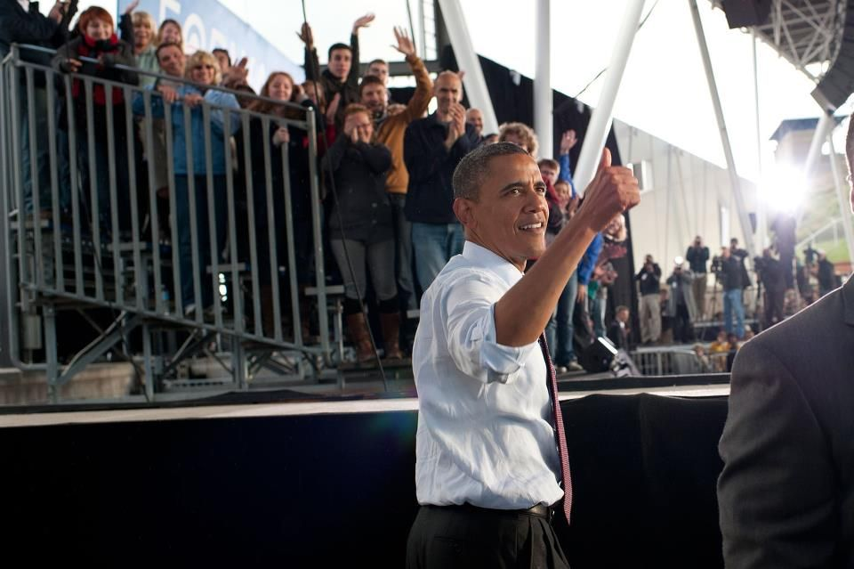 """President Obama in Milwaukee, WI: """"We are not Bears fans first or Packers fans first. We are Americans first."""""""