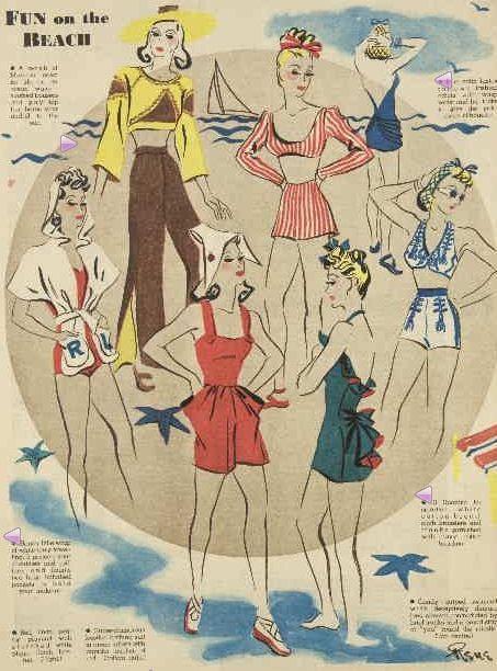 Summer Fashion  Sewing, Etc  Vintage Fashion, 1940S Fashion, Vintage -7060