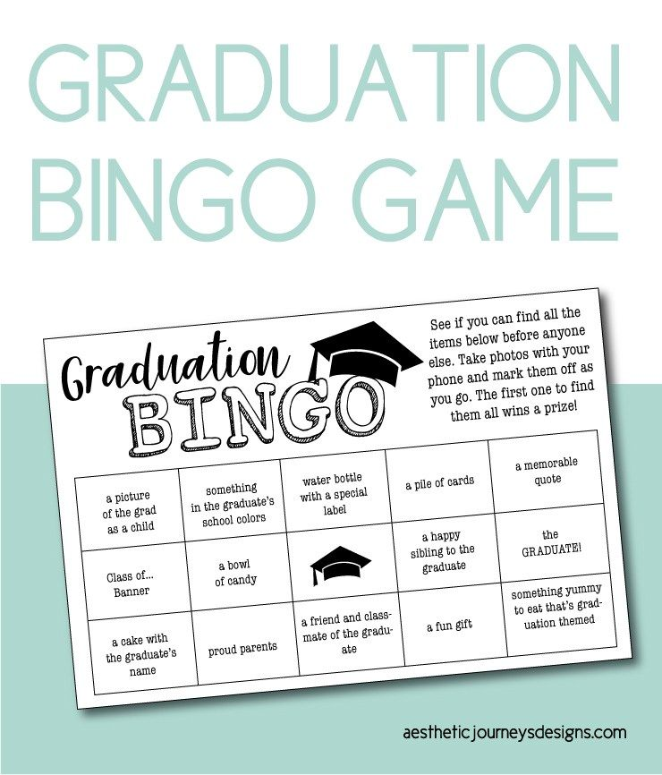 This is an image of Free Printable Graduation Party Games in 1 minute paper