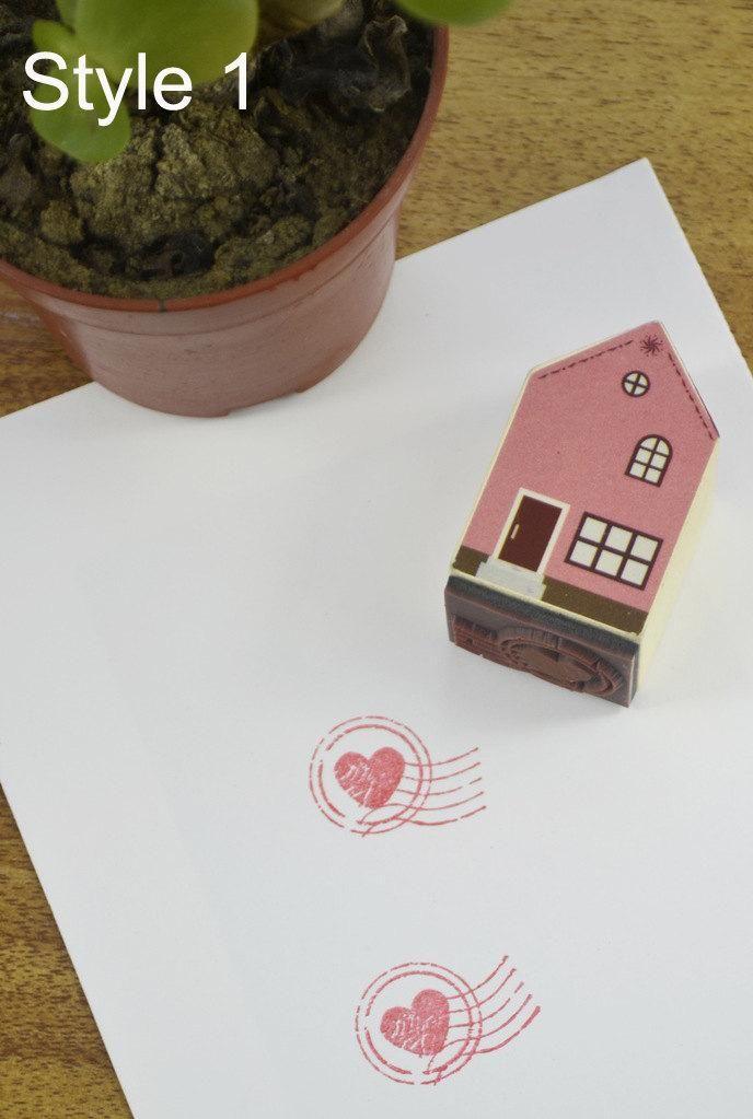 Love House Stamp (Love Heart)
