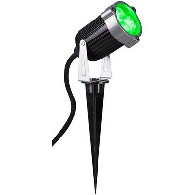Outdoor Led Spotlight Green Gemmy Light Show Black