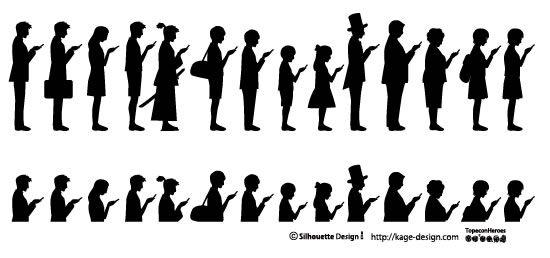 人物のシルエット素材 シルエットデザイン Silhouette People Kage