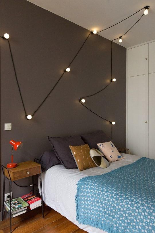 1 guirlande lumineuse 10 possibilit s deco pinterest id e d co chambre idee deco et deco. Black Bedroom Furniture Sets. Home Design Ideas