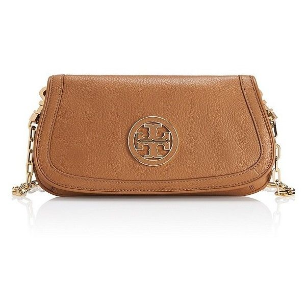 Tory Burch Amanda Logo Clutch ($245) ❤ liked on Polyvore