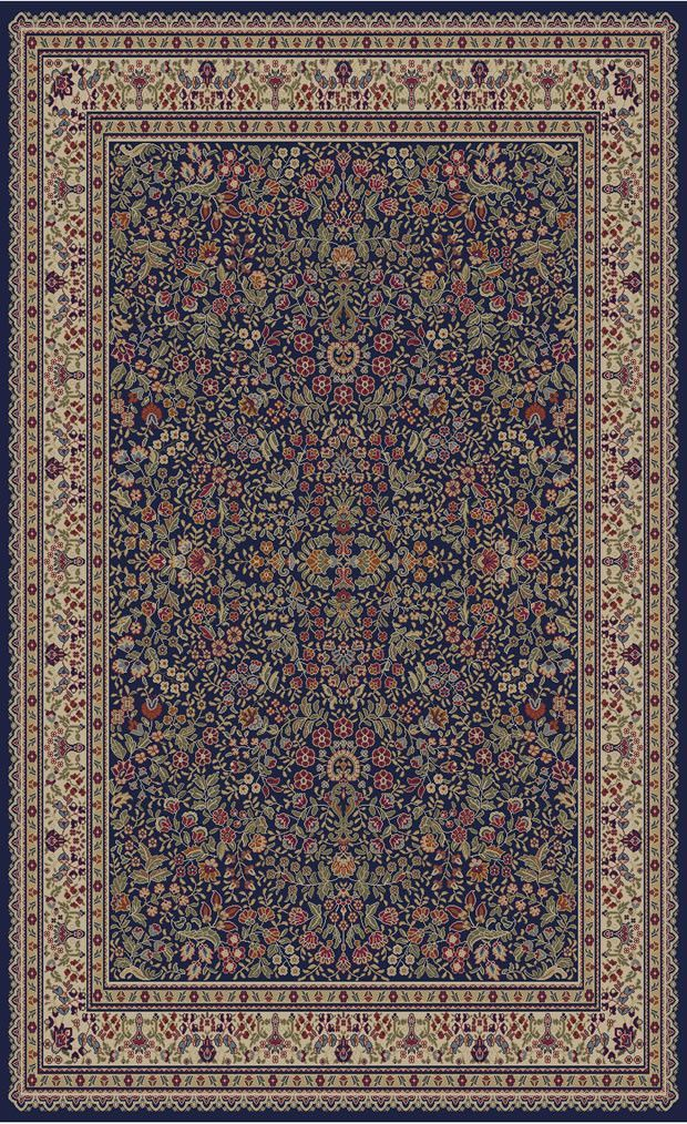 Jewel Sarouk Navy Area Rug