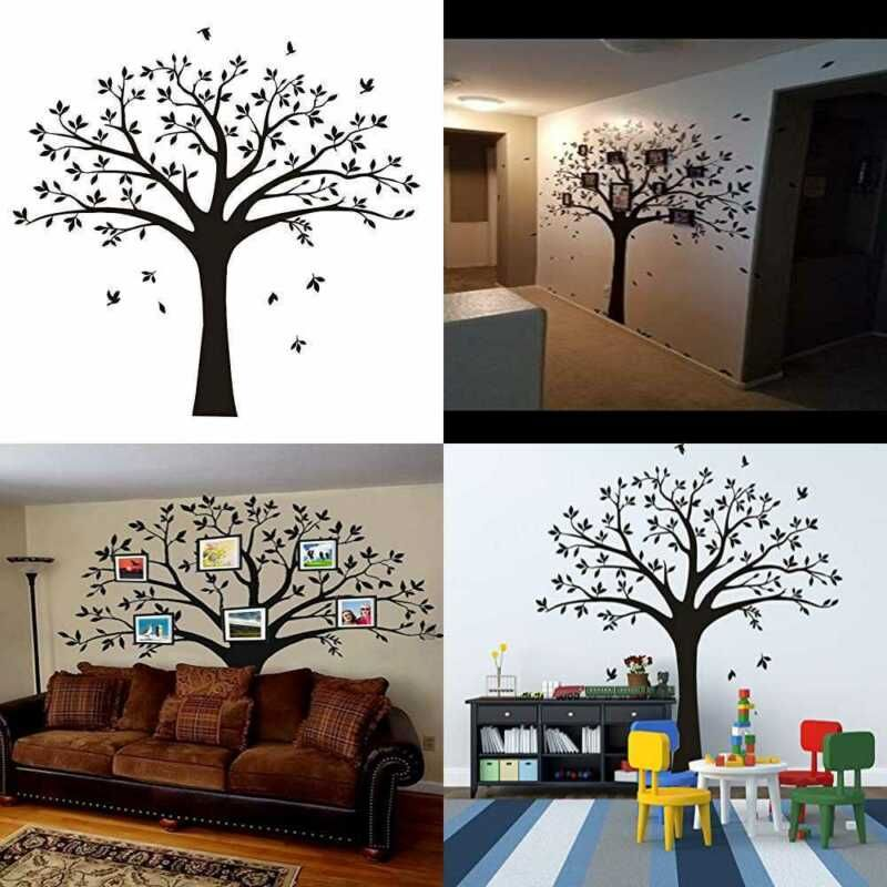 Large Family Tree Photo Frames Wall Decal Vinyl Stickers For Home Decoration 220 Decals Stickers Vi In 2020 Frames On Wall Vinyl Wall Decals Family Tree Photo Frame