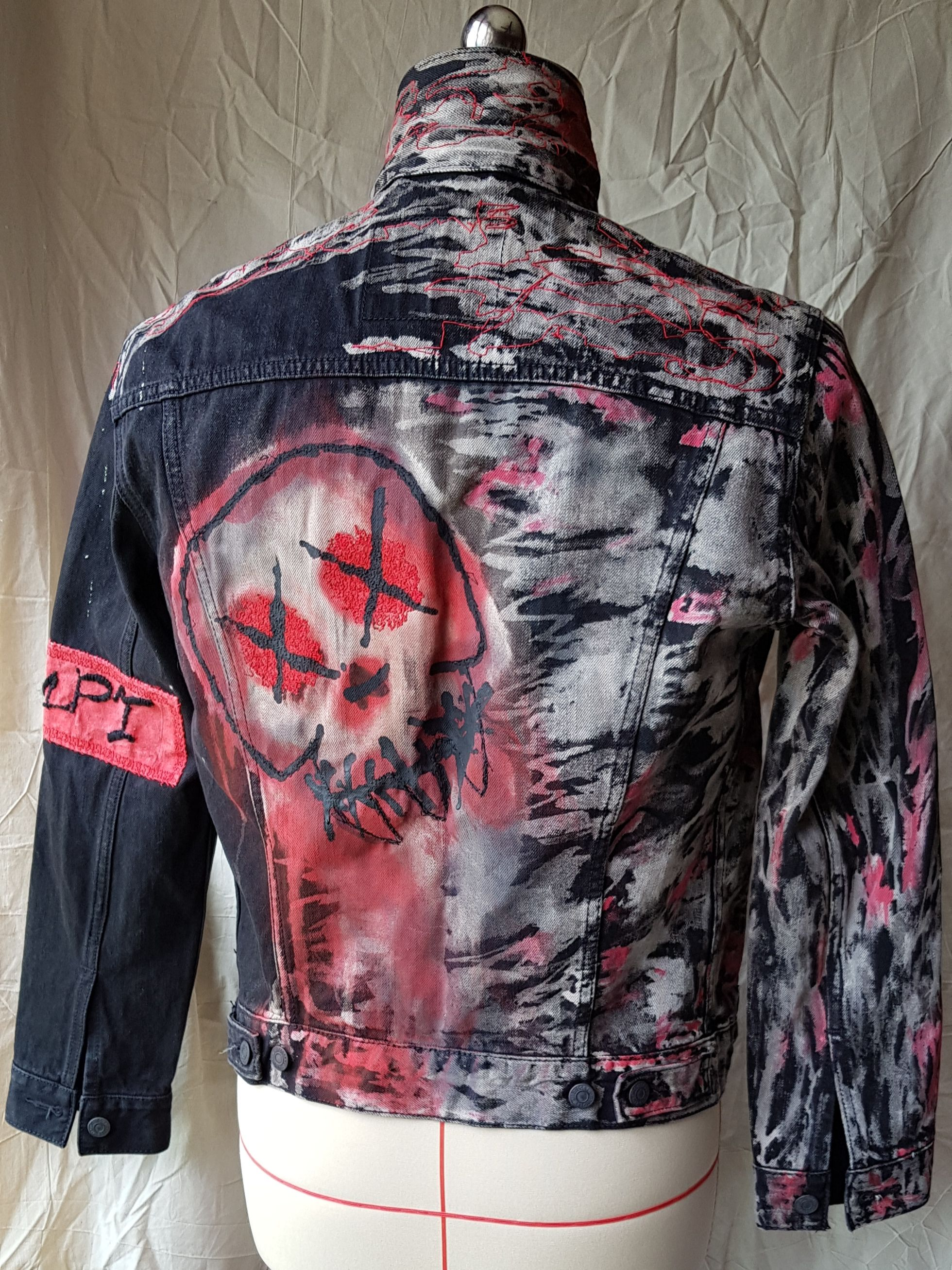 This Is A One Off Hand Painted Graffiti Jacket Named The Beast For Sale