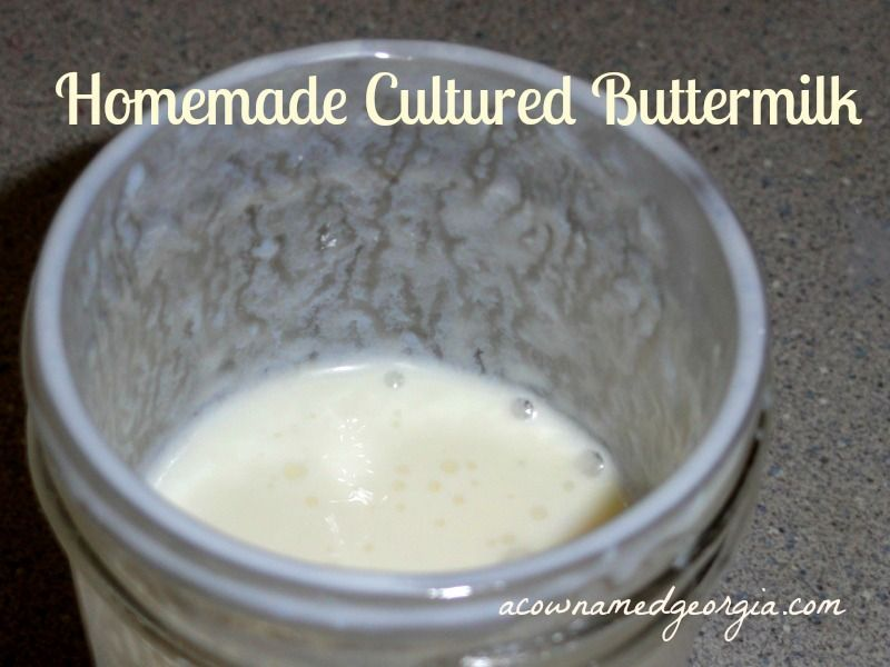 Homemade Cultured Buttermilk Cultured Buttermilk No Dairy Recipes Real Food Recipes