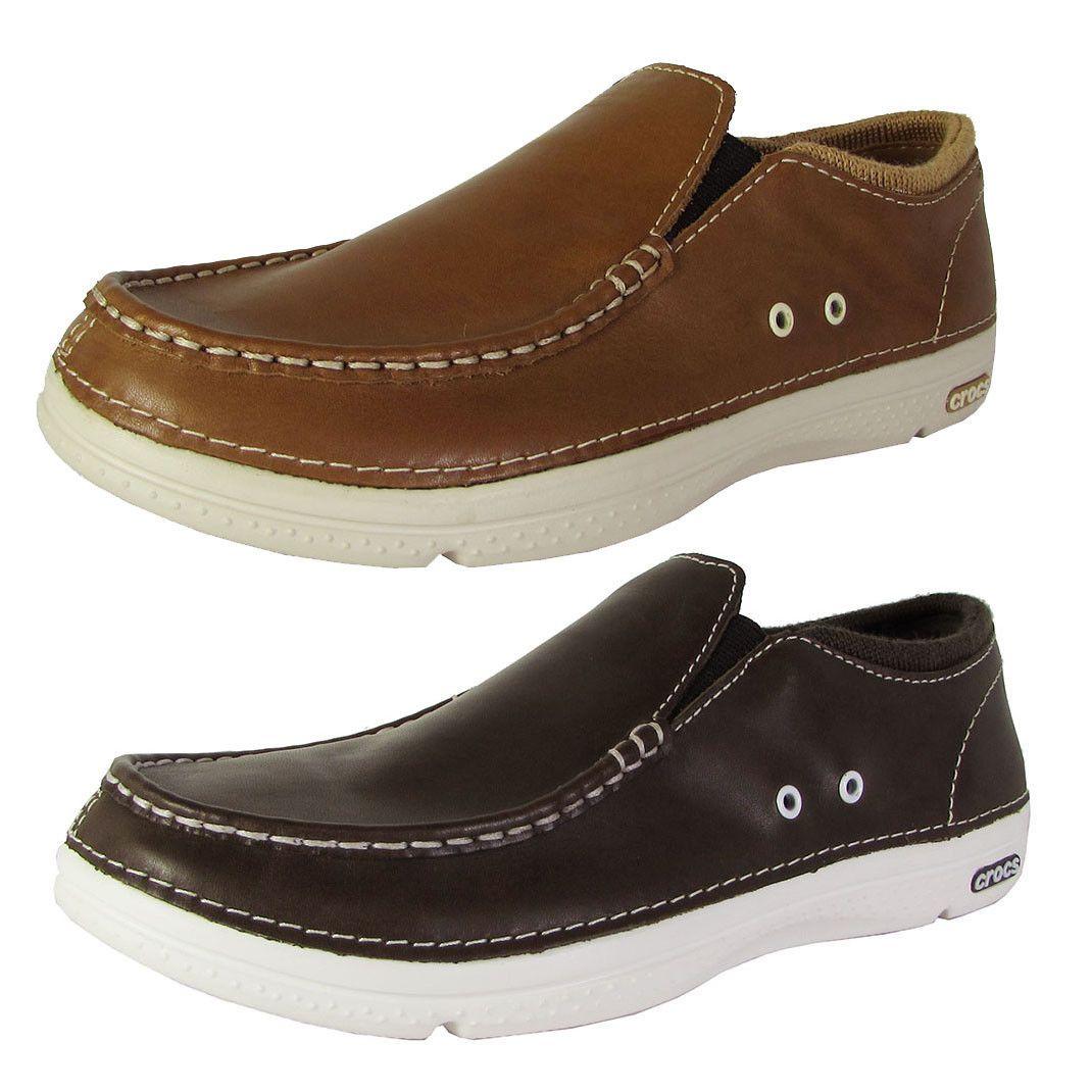 5e70fca8738c8 Crocs Mens Thompson II.5 Low Moc Toe Loafer Shoes