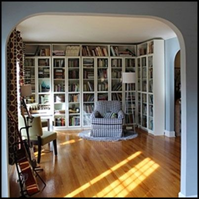 Formal Living Room Turned Library