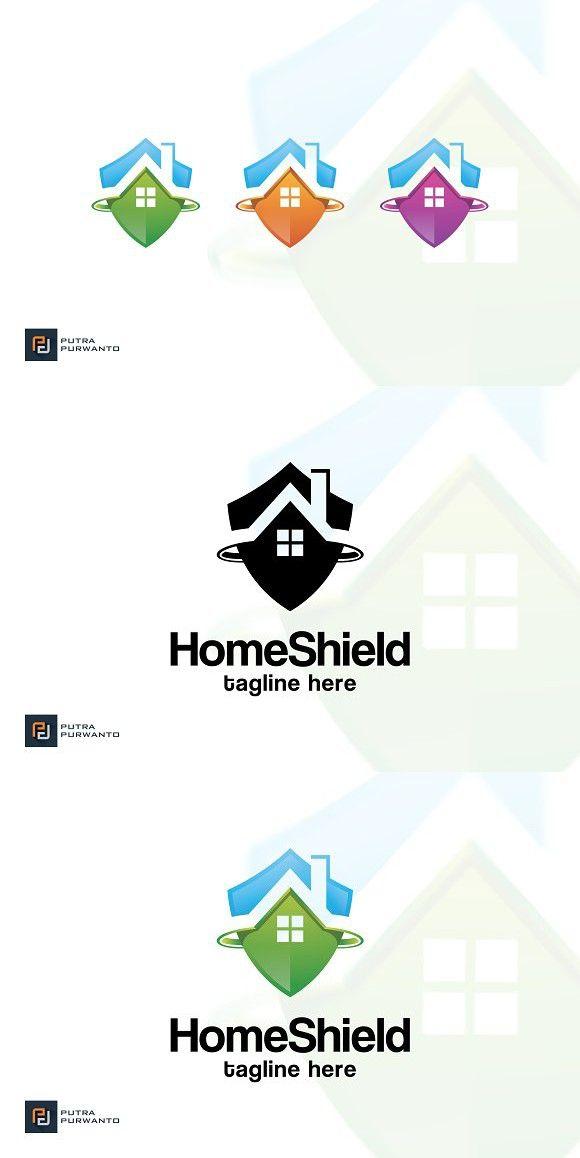 Home Shield - Logo Template   Shield logo, Logo templates and Template