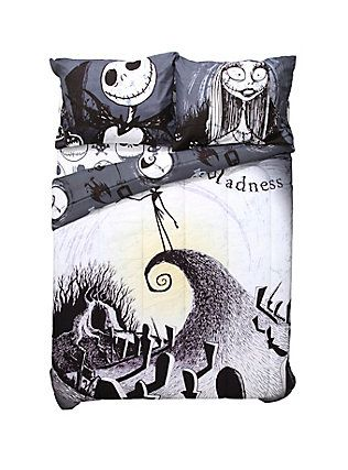 The Nightmare Before Christmas Printed Quilt Blanket In 2021 Christmas Prints Summer Quilts Christmas Quilt