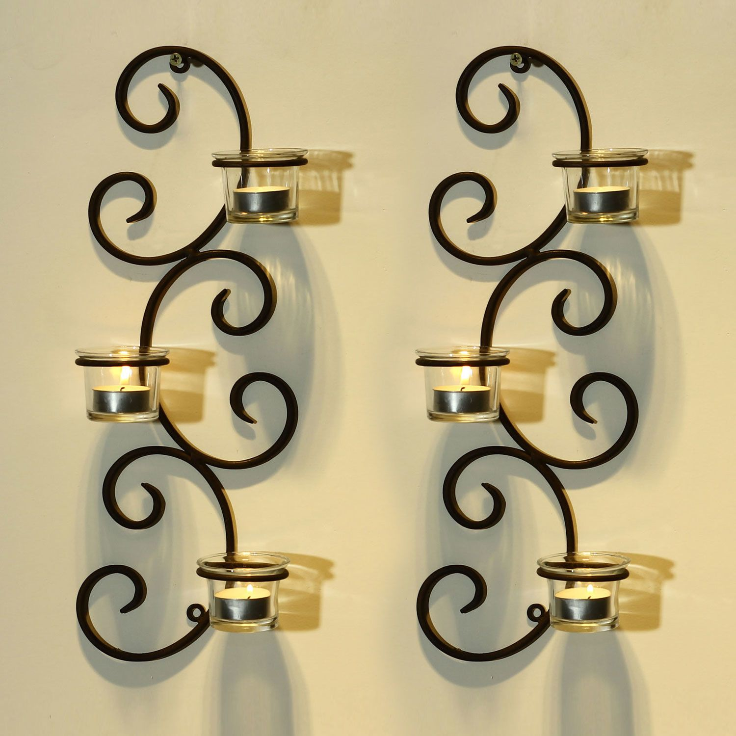 Adeco trading iron sconce manualidades pinterest iron votive