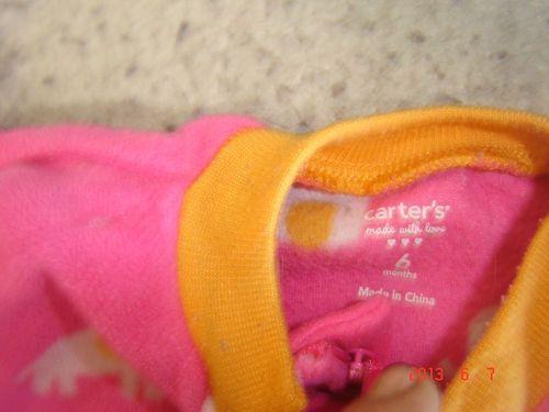 carter baby one piece Pajama's Pink Elephants I love you