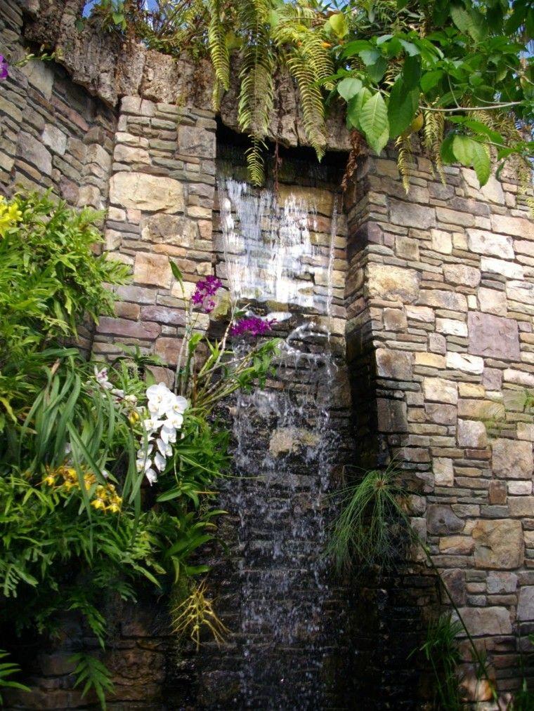 Cataratas y cascadas en el jard n 75 ideas jardiner a for Diseno de fuente de jardin al aire libre