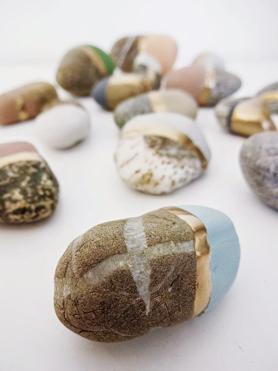 Painted pebbles by Nica Sotiropoulos