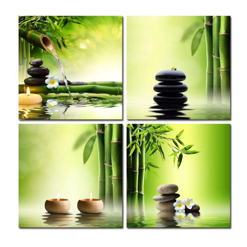 Canvas Print Painting Picture Home Decor Zen Framed Wall Art Poster