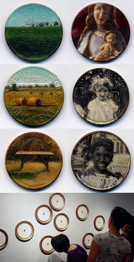 Artist Jacqueline Lou Skaggs from Queens, N.Y. transforms standard pennies into works of art.