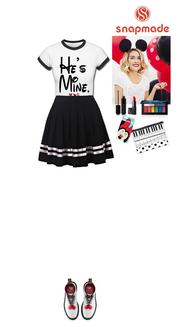 """""""Visit Disneyland Snapmade"""" by eliza-redkina ❤ liked on Polyvore featuring Dr. Martens, Lauren Conrad, NARS Cosmetics, Marc Jacobs, Smashbox and Disney"""