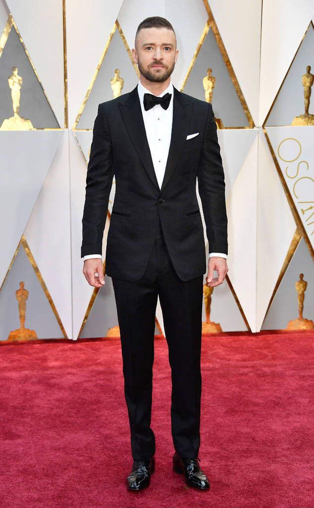 fa70804966b8 Justin Timberlake from Oscars 2017: Best Dressed Men JT's textured Tom Ford  suit plays a little trick on the eye, in the best way.