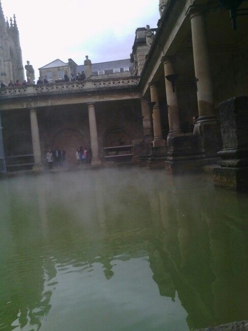 In the city of bath museum... Romans were amazing