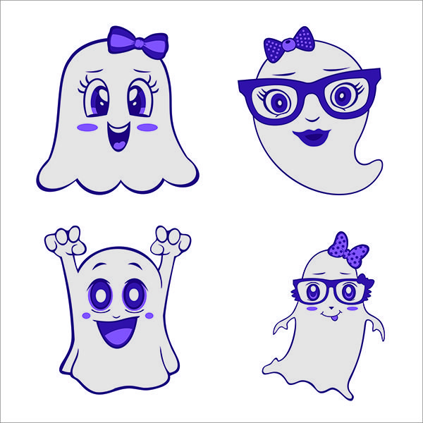 Pin by CuttableDesigns on Halloween Cute ghost, Cute