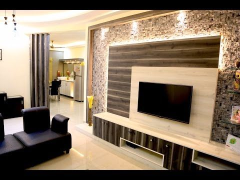 Simple And Beautiful 3 Bhk Flat Interiors Of Mr Karan Arora Pioneer Sunblossom Electronic C Flat Interior Flat Interior Design Living Room Tv Unit Designs