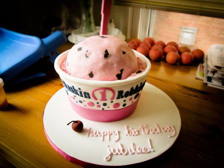 unicorn ice cream cake baskin robbins