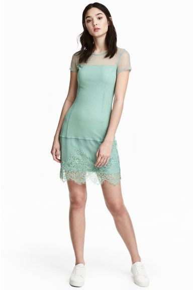 f0ec9adabe Vestido de encaje - Verde pistacho - MUJER | H&M ES 1 | vestirse ...