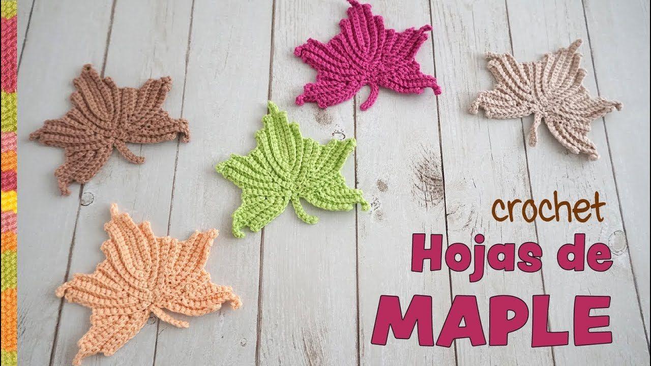 Hojas de MAPLE reversibles tejidas a crochet 🌿 / Tejiendo Perú ...