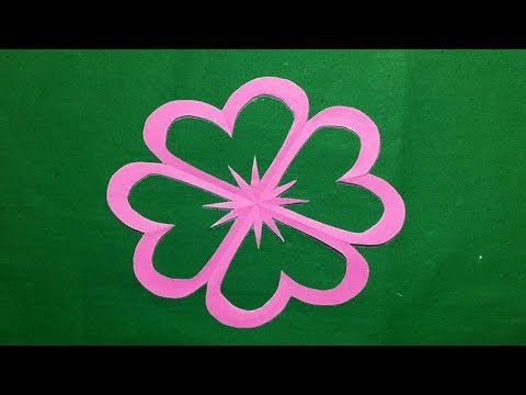 How to make simple easy paper cutting flowers paper flowers how to make simple easy paper cutting flowers paper flowers design diy instructions step by step youtube mightylinksfo
