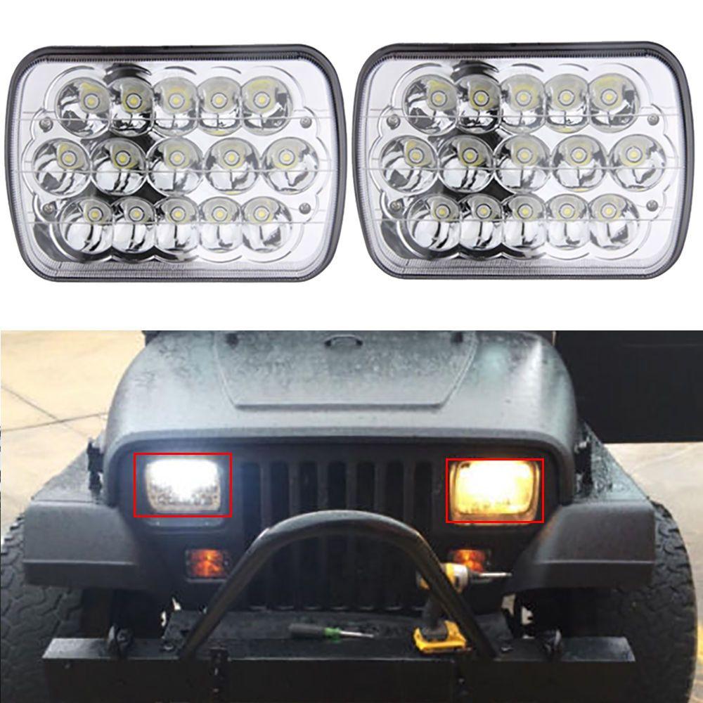 2x led sealed beam headlights for ford f250 f350 super duty latest generation turbo [ 1000 x 1000 Pixel ]