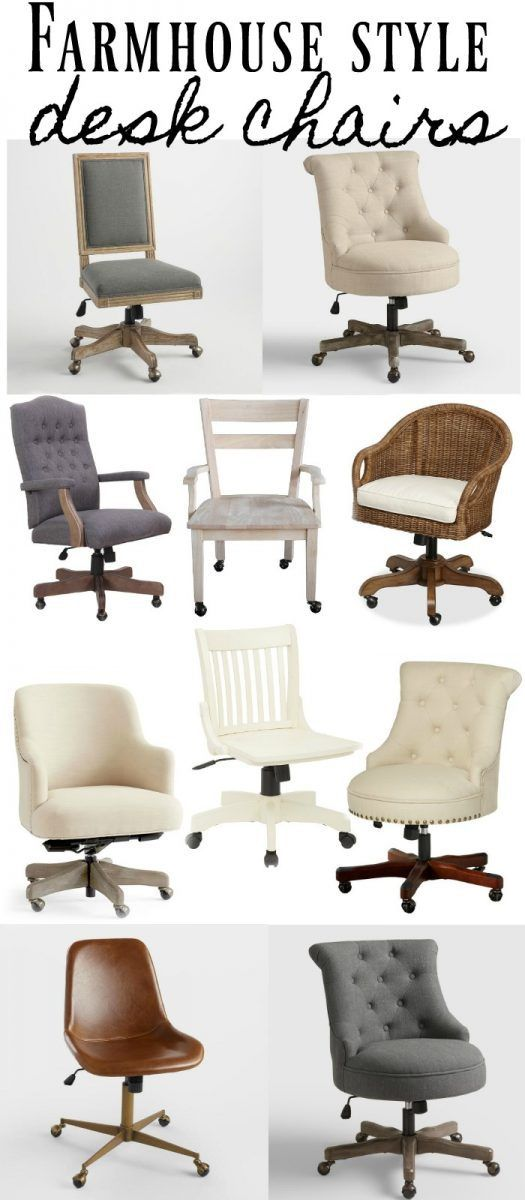 Modern Farmhouse Office Chair : modern, farmhouse, office, chair, Farmhouse, Style, Chairs, Office, Chairs,, Decor,, Modern, Chair