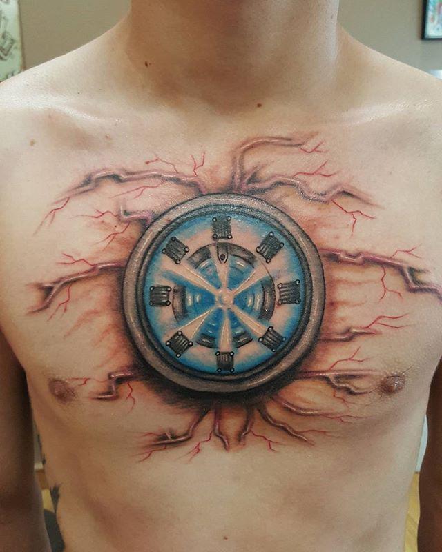 Iron man tattoo i did yesterday #ironman #ironmantattoo # ...