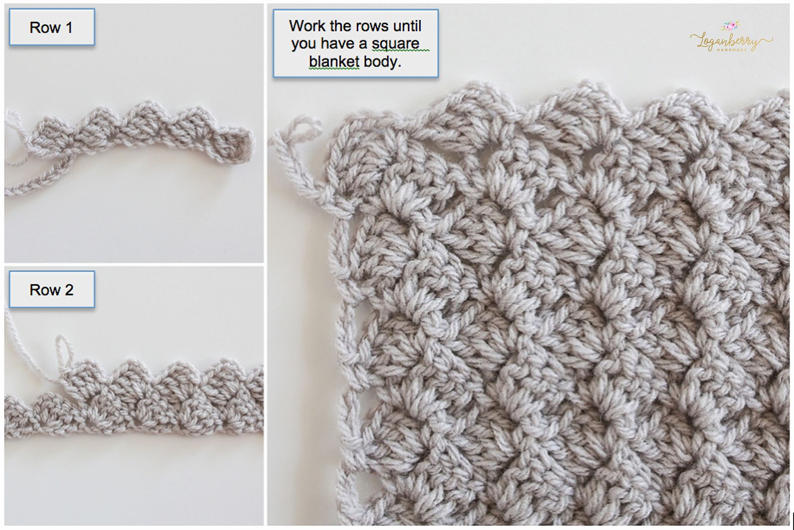 crochet baby blanket pattern, crochet afghan pattern, free crochet ...