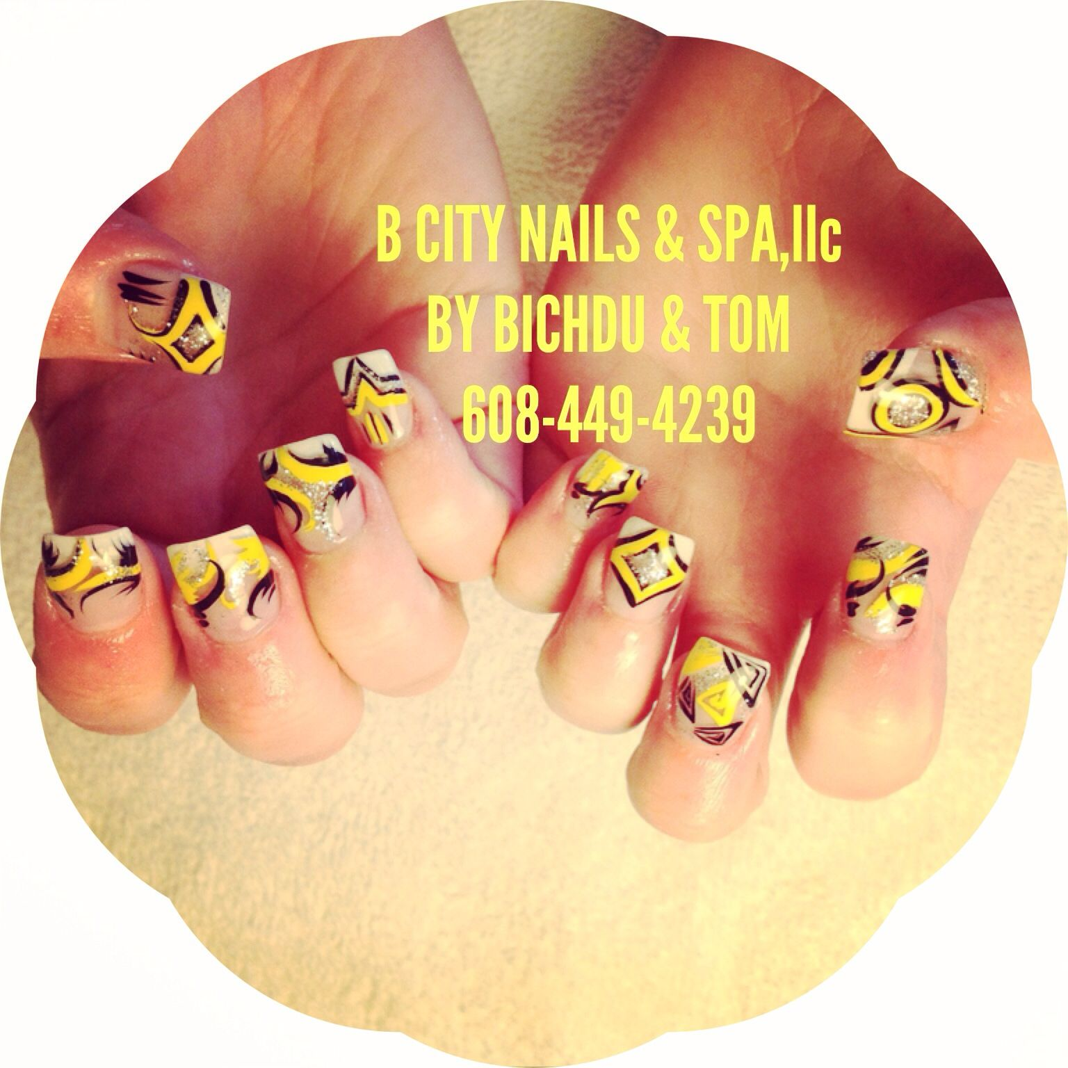 #B CITY NAILS & SPA,llc 2632 PRAIRIE AVE, BELOIT WI 53511  MON- SAT : 9:30am - 7:30 pm SUNDAY : 11:00 am -5:00 pm  608-313-8485  or 608-449-4239 STOP IN LET US DO YOUR NAILS