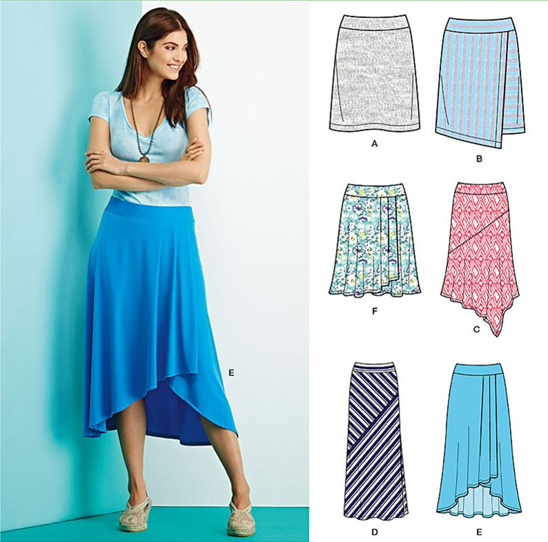 Add a casual knit skirt to your summer wardrobe with Simplicity ...