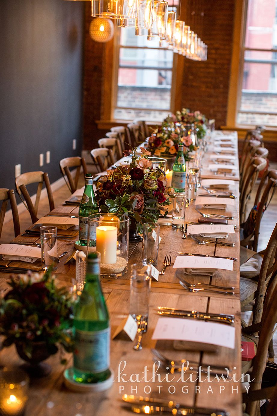 Rustic tabletop decor for a country wedding or a less formal event