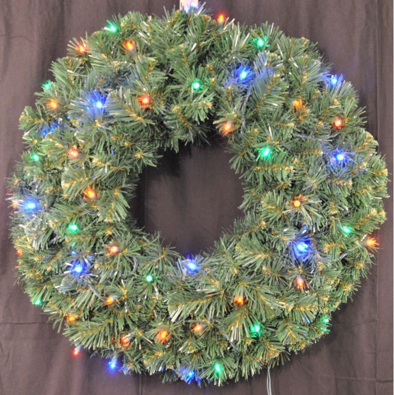 Christmas At Winterland Wl Gwsq 02 L4m Bat 2 Foot Pre Lit Battery Operated Multi Multicolo Christmas Wreaths With Lights Spring Flower Wreath Christmas Wreaths