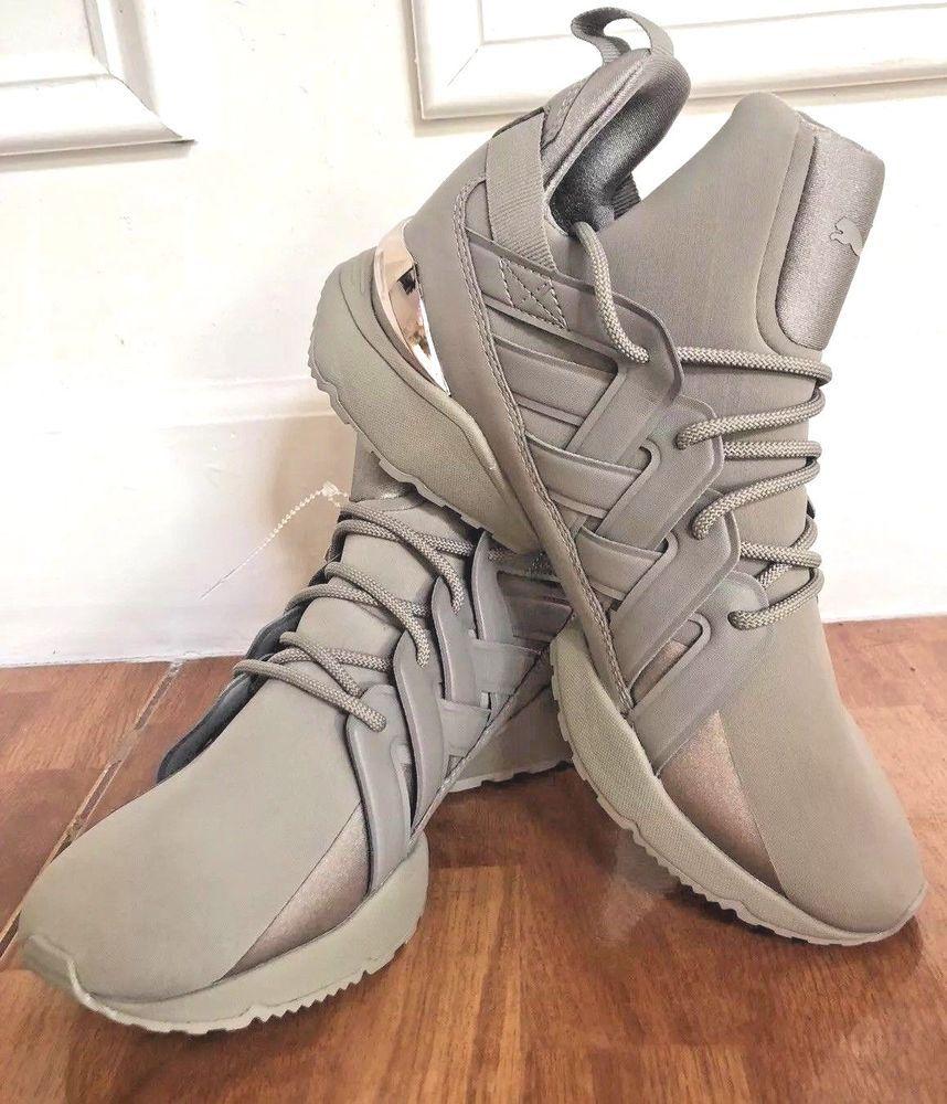 0e5eec7f652bea Puma Shoes Muse Echo Women s Rock Ridge Gray Sneakers 36644702 Size 8 EUR  38.5