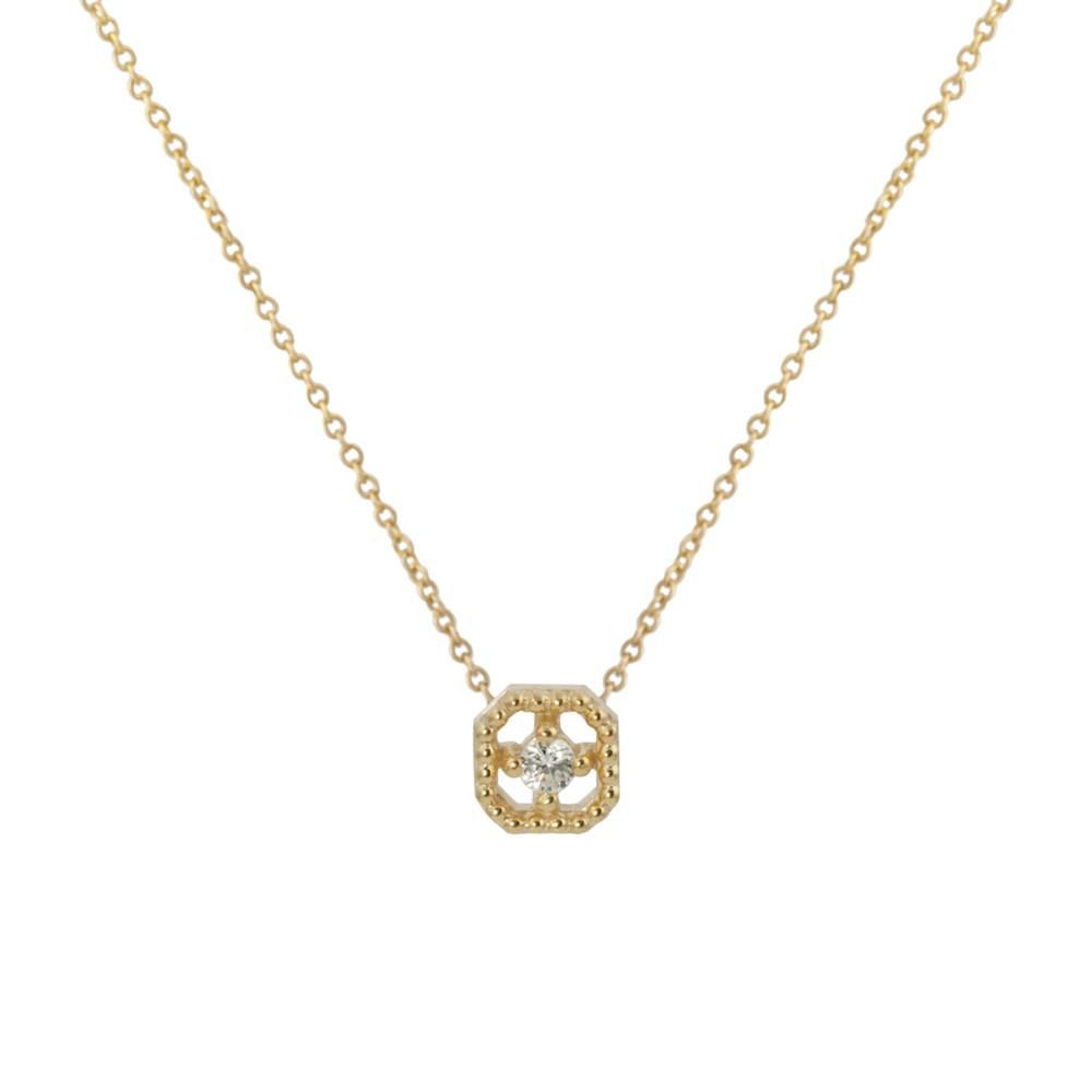 Milgrain square diamond necklace products pinterest diamond
