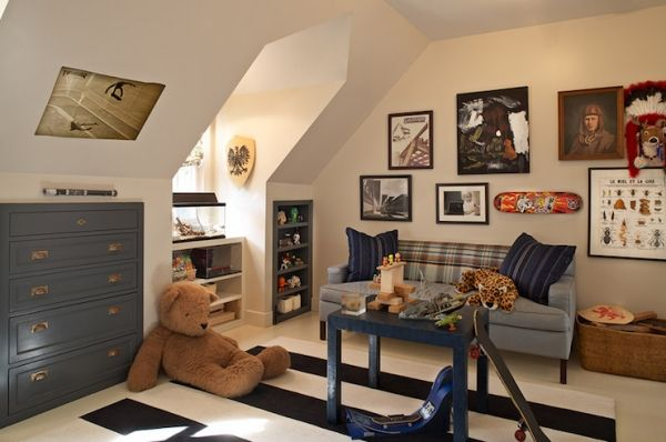 kinderzimmer mit schräge gestalten junge deko Mazimmer - schlafzimmer mit schrge