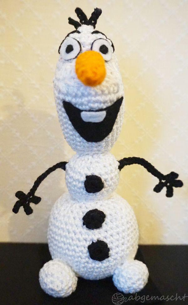 Gehäkelter Schneemann Olaf Die Eiskönigin Frozen Pattern By