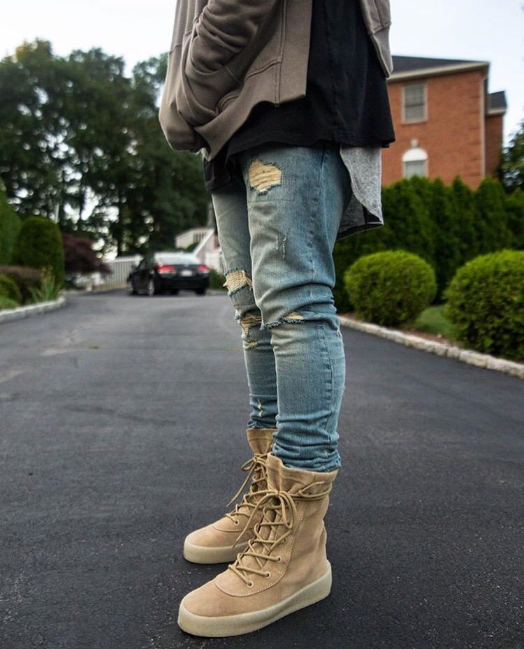 timeless design cdc86 ce968 Yeezy Season 2 Crepe Boots outfits