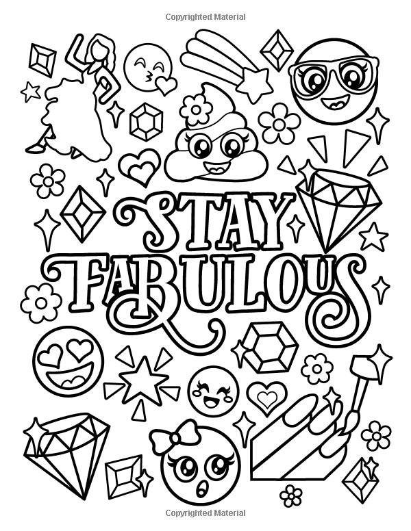 Amazon Com Emoji Coloring Book For Girls Of Funny Stuff Inspirational Quotes Super Cute Animals 3 Coloring Books Love Coloring Pages Quote Coloring Pages